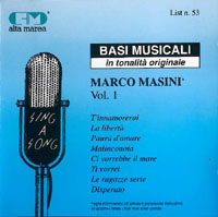 Basi musicali in tonalità originale - Marco Masini Vol. 1
